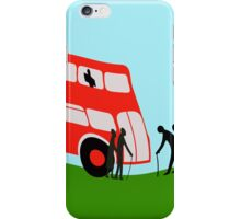 Pensioners wait for the bus iPhone Case/Skin