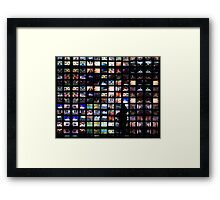TV screen makes you feel small... Framed Print