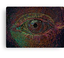 Color Infused Eye Canvas Print