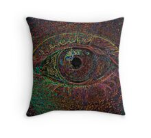 Color Infused Eye Throw Pillow