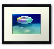 Swimming belt in a swimming pool Framed Print