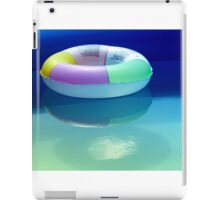 Swimming belt in a swimming pool iPad Case/Skin