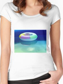 Swimming belt in a swimming pool Women's Fitted Scoop T-Shirt