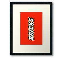 BRICKS, Customize My Minifig Framed Print