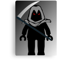 Grim Reaper Minifig, 'Customize My Minifig' Canvas Print