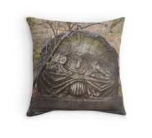 old headstone Throw Pillow