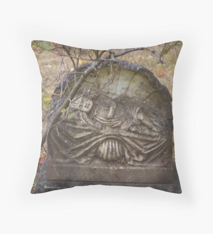 old headstone Throw Pillow