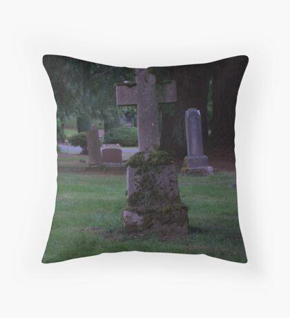 aged cross Throw Pillow