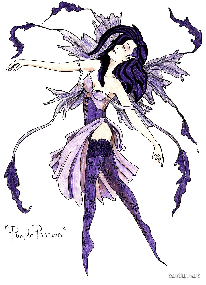 Purple Passion by terrilynnart