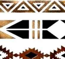 Tribal Aztec Gold and Black Design Sticker