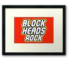 BLOCK HEADS ROCK Framed Print