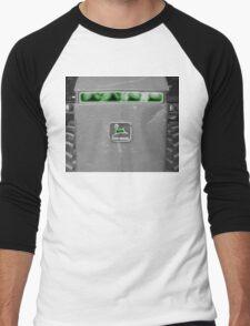 Farm Tractor John Deere Photograph Design Men's Baseball ¾ T-Shirt