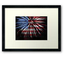 American Fireworks Framed Print