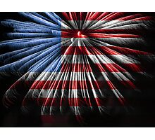 American Fireworks Photographic Print
