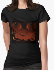 Evil eyes Womens Fitted T-Shirt