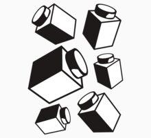 1 x 1 Bricks (AKA Falling Bricks), Customize My Minifig One Piece - Long Sleeve