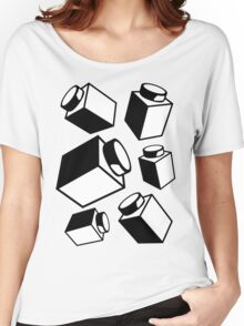 1 x 1 Bricks (AKA Falling Bricks), Customize My Minifig Women's Relaxed Fit T-Shirt