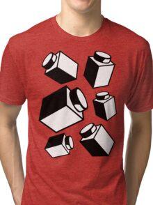 1 x 1 Bricks (AKA Falling Bricks), Customize My Minifig Tri-blend T-Shirt