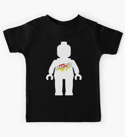 White Minifig with Music Log, Customize My Minifig Kids Tee