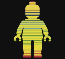 Striped Minifig, Customize My Minifig by Customize My Minifig