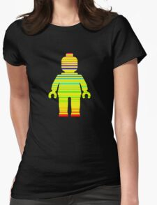 Striped Minifig Womens Fitted T-Shirt