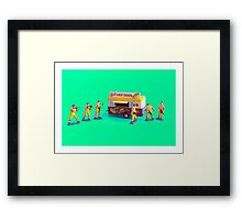 Fast Food Turf War! Framed Print