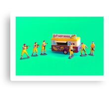 Fast Food Turf War! Canvas Print