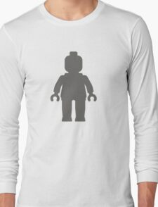 Minifig [Dark Grey], Customize My Minifig Long Sleeve T-Shirt