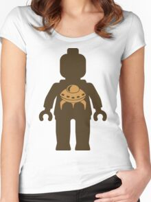 Minifig with UFO  Women's Fitted Scoop T-Shirt