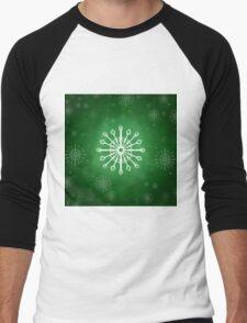 Green Winter Men's Baseball ¾ T-Shirt