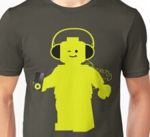 Minifig with Headphones & iPod Unisex T-Shirt