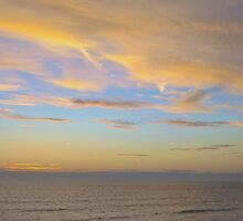Sunset At Westward Ho! by Kevin Wortley