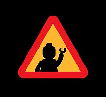 Minifig Triangle Road Traffic Sign by Customize My Minifig