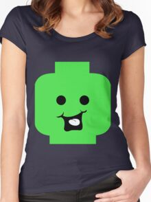 Cheeky Minifig Head Women's Fitted Scoop T-Shirt