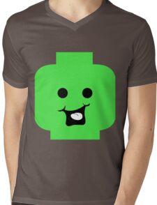 Cheeky Minifig Head Mens V-Neck T-Shirt