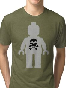 Minifig with Skull Design Tri-blend T-Shirt