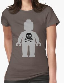 Minifig with Skull Design Womens Fitted T-Shirt