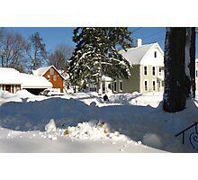 Snow Daze ~ Just Across The Street Photographic Print