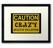 Caution Crazy Minifig Collector Sign Framed Print