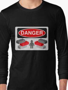 Danger Bricks & Minifig Long Sleeve T-Shirt