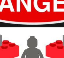 Danger Bricks & Minifig Sticker