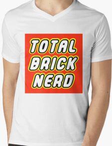 TOTAL BRICK NERD Mens V-Neck T-Shirt