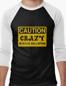 Caution Crazy Minifig Collector Sign Men's Baseball ¾ T-Shirt