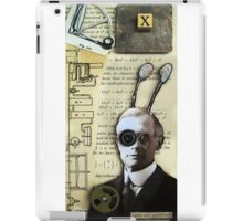 Inventor assemblage mixed media collage shadow box original art iPad Case/Skin