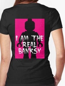 "Black Minifig with ""I am the Real Banksy""  T-Shirt"