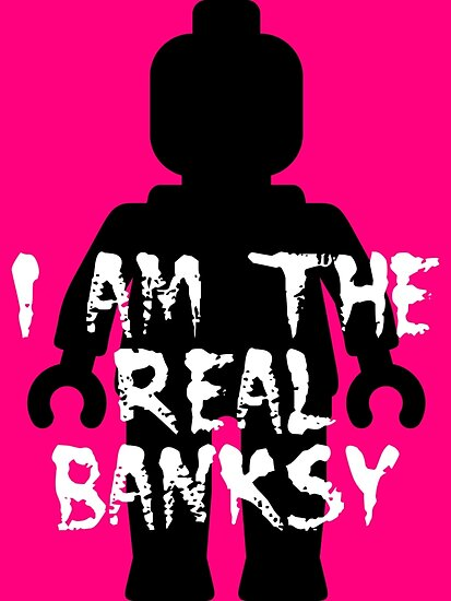 """Black Minifig with """"I am the Real Banksy""""  by ChilleeW"""