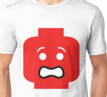 Scared Minifig Face Unisex T-Shirt