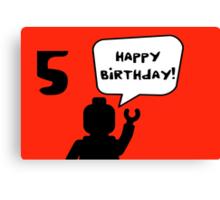 Happy 5th Birthday Greeting Card Canvas Print
