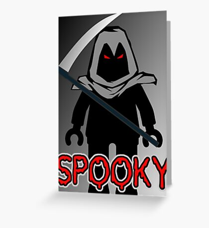Spooky Grim Reaper Minifig, 'Customize My Minifig' Greeting Card