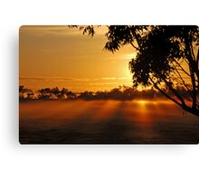 The rays of dawn Canvas Print